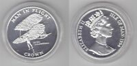 ISLE OF MAN – SILVER PROOF 1 CROWN COIN 1994 YEAR KM#417a OTTO LILIENTHAL