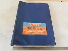 CATALOGO PARTI DI RICAMBIO ORIGINALE FIAT 128 RALLY 1300 1971