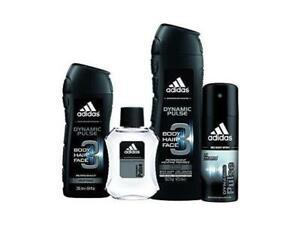 Adidas Dynamic Pulse Men 4 Piece Gift Set Bundle -  Body Wash, Shower Gel, Body