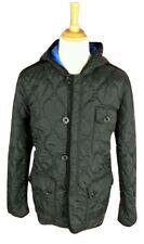 #152 Mens Asylum Heritage Cannon Black Quilt Hooded Jacket, XL