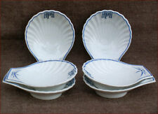 French Limoges Porcelain Set 6 Individual Shell Oyster Plates Böblingen Airport