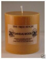 Sandalwood Scented Pillar Candle 7.5cm x 7.5cm