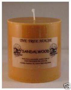 Sandalwood Scented Pillar Candle 7.5cm x 7.5cm