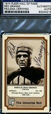 RED GRANGE SIGNED PSA/DNA 1974 FLEER IMMORTAL ROLL CERTED AUTOGRAPH AUTHENTIC