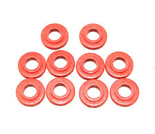 100 Tattoo Machine #8 Red Fiber Shoulder Washers Binder Parts Made In USA