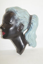 Cortendorf Wandmaske Mädchen schwarz türkis 50er Design 3408