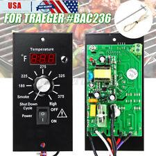 US Metal Digital Thermostat Control Board + Probe For Traeger Wood Pellet Grills