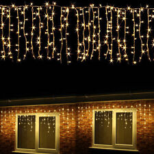 96-1500 LED Hanging Icicle Curtain Lights Outdoor Fairy Xmas String Wedding 220V