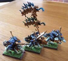 Warhammer aos seraphon Saurus Caballeros frío las miniaturas lote de 3 Pro Pintado