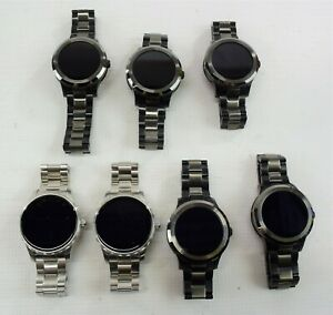 Lot of 7 Fossil Q Founder 2 Generation Demo Units AS IS