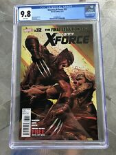 CGC 9.8 Uncanny X-Force #32 Wolverine Sabretooth Jerome Opena Cover NM/M