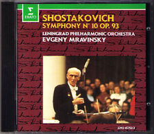 Evgeny MRAVINSKY: SHOSTAKOVICH Symphony No.10 Schostakowitsch Leningrad ERATO CD