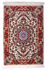 Tabriz 96 x 63 cm echter Handgeknüpfter Orientteppich Perser floral, mit Seide