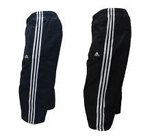 Adidas Mens 3/4 Track Pants Woven Sports Training Three Quarter Pant Zip Pockets