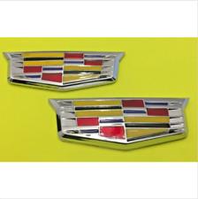 2 X  Cadillac Emblem Car Badge Decal Sticker CTS SRX STS ATS XLR SLS CT6   SET