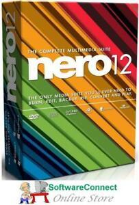 Nero 12 BURN CD DVD AUDIO VIDEO NEW Not 2021 Genuine GUARANTEE!