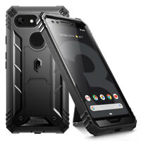 Poetic Shockproof Case For Google Pixel 3 Full Coverage Protective Cover Black