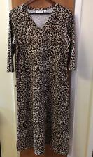 Denim & Co. QVC Animal Print Stretch Maxi Dress Women's Size Small