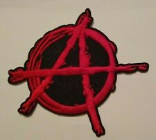 """Anonymous Vendetta Guy Fawkes Anarchy~Embroidered Patch~3 1/2"""" x 3""""~Sew or Iron"""