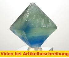 6528 polychromer Fluoritspaltoktaeder ca 4cm Fluorite Octahedrons diamonds MOVIE