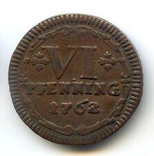 ALLEMAGNE MUNSTER 6 PFENNING 1762