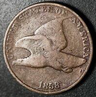 1858 FLYING EAGLE CENT - GOOD - Large Letters LL