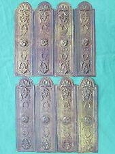 8 plaques propreté embouties laiton ancienne 22 x 5,9 cm porte d'intérieur