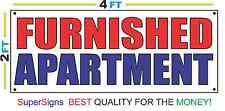 2x4 FURNISHED APARTMENT Banner Sign Red White & Blue NEW Discount Size & Price
