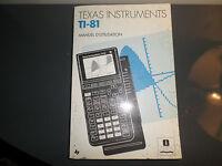 Manuel d'utilisation pour calculatrice Texas Instruments TI-81