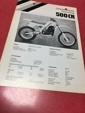 46 Husqvarna 500CR 500 motocross caracteristiques Fiche technique moto vintage