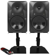 """Mackie MR824 8"""" Active Studio Monitor Speaker (Pair) with GSM-50 Stands & Cable"""