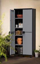 Keter 4-Shelves Tall Pantry Storage Cabinet Laundry Closet Garage Organizer