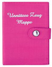 TUSSI on TOUR BRIEFTASCHE DOKUMENTENMAPPE MAPPE unnützes Zeug rosa pink