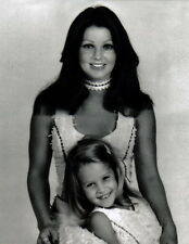 Priscilla and Lisa Marie Presley 8x10 photo Q3286