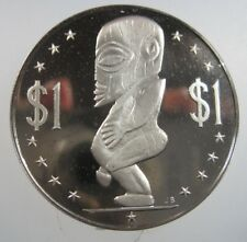Cook Island $1 1972 1976 Tangarao Peace Fertility Crown Gem Proof 14# Bank Coin
