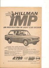 ORIGINAL VINTAGE 1964 HILLMAN IMP AUSTRALIAN ADVERT