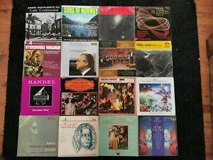 "16 Classical 12"" Vinyl LP's/Joblot/Beethoven/Handel/Vivaldi/Bach/Tchaikovsky"