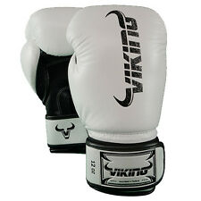 Viking Norse King Boxing Gloves - Vintage White/Black 16oz