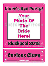 Personalised Iron on Photo Transfer with Name Plate for Hen Do/Party/Night-on A4