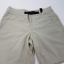Columbia womens size 6 walking shorts khaki tan beige hiking camping self-belt