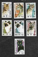 Cambodia 1985 Scott MI #666-72 Domestic Cats used