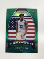 2020-21 Panini Prizm James Wiseman Green Global Prospects Prizm RC SP WARRIORS