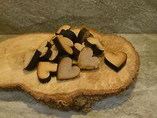 20 x wooden hearts craft blank embelishments