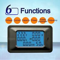 100A AC LCD Digital Panel Power Watt Meter Monitor Voltage Voltmeter Ammeter