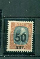 Island, Wertstempel auf König Christian Nr.113 postfrisch **