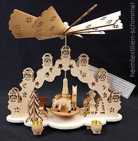 Weihnachtspyramide Adventskranz Holz Tischpyramide Weihnachten Pyramide 4 Kerzen