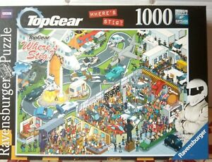 Ravensburger Top Gear Wheres Stig 1000 pc Jigsaw Puzzle Complete Airport Mystery