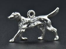 Vintage Saluki Dog Sterling Silver Charm 925 3D 3g Puppy Solid Detailed Pet Love