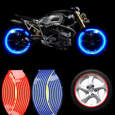 18inch 16 Strips Reflective Motorcycle Auto Rim Stripe Wheel Decal Tape Stickers