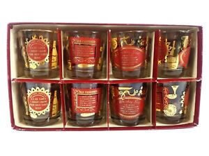 Vintage 8 Red Gold Lowball Glasses Barware Recipes Heres How By Jeannette Box